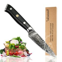 "3.5"" Japanese Damascus Steel Paring Peeling Knife Kitchen Ch"