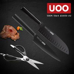 OOU 3pc Knives Set Anti Rust Easy Clean Chef Knife Paring Kn