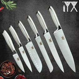 XYj 6 Piece Stainless Steel Knife Set High Carbon Sharp Thin
