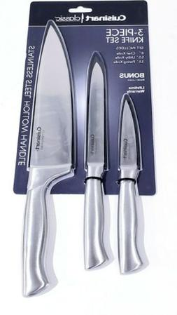 Cuisinart Classic 3-Piece Stainless Steel Knife Set w/Blade