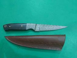 custom handmade real Damascus hunting paring chef knife with