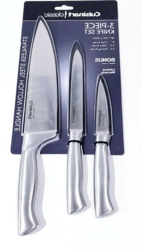 classic 3 piece stainless steel knife set
